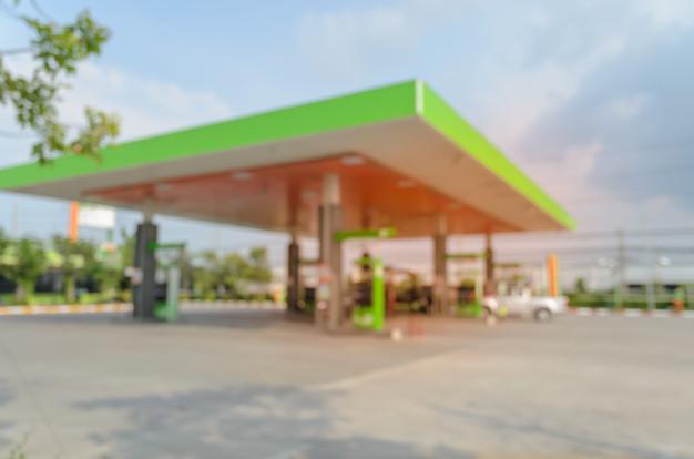 blurred image gas station filling station 63313 70